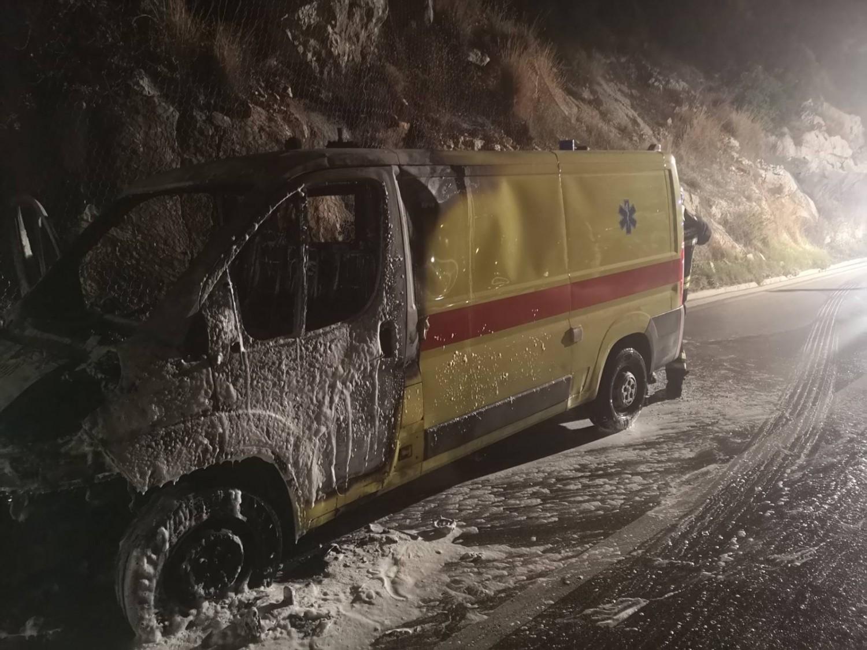 vatrogasci interveniraju zapalilo se sanitetsko vozilo u štikovici foto